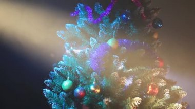 Illuminated Christmas tree — Video Stock