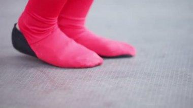 Dancing feet — Stock Video