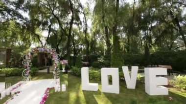 Decorated wedding ceremony — Stock Video