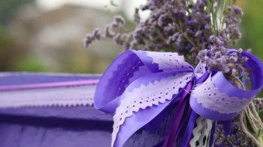 Decorateds wedding elements — Stock Video