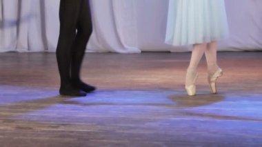 Ballet pair feet — Stock Video