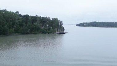 View sea islands Finland — Stock Video