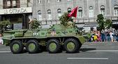 Military parade in the Ukrainian capital — Stock Photo