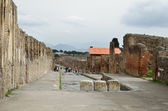 Excursion in the ancient city Pompeii — Stok fotoğraf