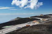 Sapienza Refuge on the volcano Etna — Stock Photo
