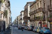 Street in the ancient Catania — Stock Photo