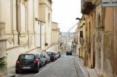 Sicilian Baroque style of the Noto city — Stock Photo