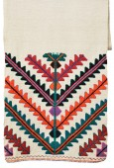 Ukrainian homespun towel embroidered — Stock Photo