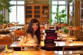 Reading-room in the library — Stock Photo