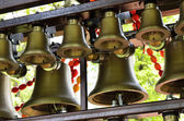 Carillon with Easter garlands — Stock Photo
