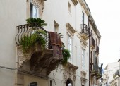 Typical house in the ancient Syracuse — Stock Photo