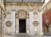 Baroque edifice in the ancient Syracuse — Stock Photo