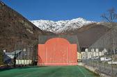 Open-air fronton for Basque pelota — Stock Photo