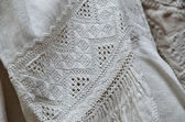 Ukrainian traditional whitework embroidery — Stock Photo