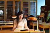 In the library — Stock Photo