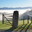 Постер, плакат: Foothills n the fog Pays Basque