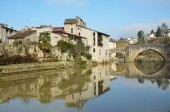 The ancient French town Nerac — Fotografia Stock