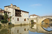 The ancient French town Nerac — Stock Photo