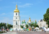 The oldest square in the Day of city Kyiv — Stock Photo