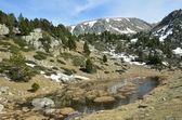 Spring view of the Madriu-Perafita-Claror valley — Stock Photo