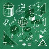 Wektor zestaw elementów matematyki handdrawn — Wektor stockowy
