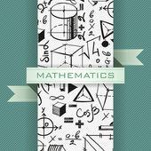 Vector set of handdrawn mathematics elements — Stock Vector