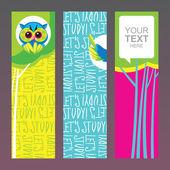 School banners set — Stock Vector