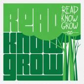 Read Know Grow Concept Vector — Stock Vector