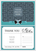 Wedding Thank You Notes — Stock Vector
