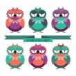 Wise owl set — Stock Vector #53018275