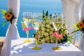 Wedding glasses — Stock Photo