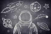 The cosmonaut — Stock Photo