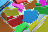 Colour folders — Stock Photo