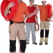 Team of plumbers — Stock Photo #59420427