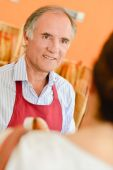 Male bakery worker — Stock Photo