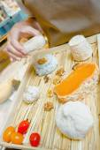 Selection of posh cheeses — Stock Photo