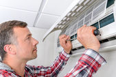 Fix this air conditioning — Stock Photo