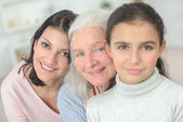 Granda mum and daughter — Stock Photo