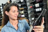 Selecting wine — Stock Photo