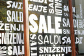 Sale signs - shopping concept — Stock Photo