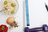Diet diary — Stock Photo