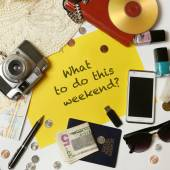 What to do this weekend? — Stok fotoğraf
