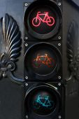 Traffic light for bicycles — Stock Photo