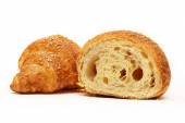 Croissant on white background — Stock Photo