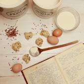 Att göra cookies — Stockfoto