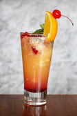 Mixed fruits mint cocktail in a glass — Stock Photo