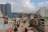 вид сверху на крышах зданий — Стоковое фото