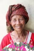 Elderly balinese woman — Stock Photo