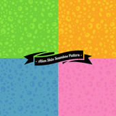 Set of seamless spotted patterns — Stock Vector