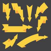 Reihe von verschiedenen pfeile — Stockvektor